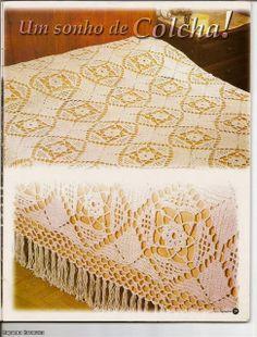 Crochet Knitting Artesanato: colcha de crochet