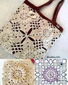 Bag Crochet, Crochet Handbags, Crochet Purses, Crochet Motif, Crochet Clothes, Crochet Stitches, Free Crochet, Crochet Bikini, Knitting Patterns
