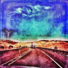 . Psychedelic skies.  Needed a photo op   _________________  #photo #photography #photograph #iPhoto #iphonography #skiesofblue #california #vascoroad #brentwood #californiadreaming #roadtrip