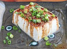 Warm Tofu with Spicy Soy Sesame Sauce © Jeanette's Healthy Living