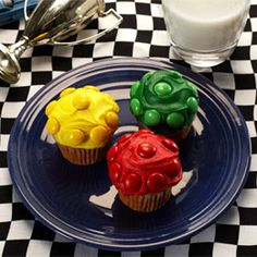 Radiator Springs Stoplight Cupcakes...what Braden is going to have for his birthday cake