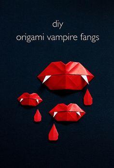DIY Origami Vampire Fangs