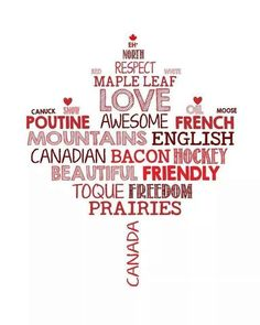 Canada (obviously not created by a Canuck cuz we call it 'back bacon,' not Canadian--that's the American term for it. otherwise agree with everything) - the bacon, not everyone eats bacon (or pork product for that matter) Canada Day Party, Canadian Things, I Am Canadian, Canadian Maple, Canadian Quilts, Canadian Culture, Canadian Bacon, Quebec, Ottawa