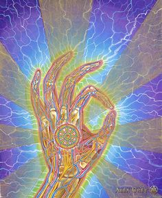 "Alex Grey ""Mudras""  Focus into the breath... <3"