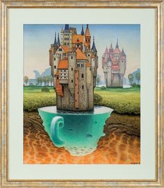 Tea under castle