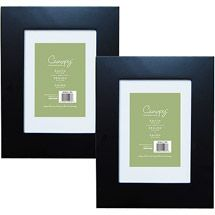 """Walmart: Canopy Wide Picture Frame Black, Set of 2, 5""""x7"""""""