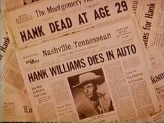 sad day-Hank Williams (/hæŋk wɪljəmz /; September 17, 1923 – January 1, 1953), born Hiram King Williams, was an American singer-songwriter and musician regarded as one of the most important country music artists of all time. Williams recorded 35 singles (five released posthumously) that would place in the Top 10 of the Billboard Country  Western Best Sellers chart, including 11 that ranked number one. wikipedia