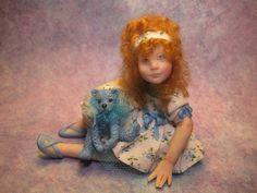OOAK Miniature Girl Doll ~ Mellie ~ Handsculpted Original Art Doll