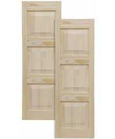 Exterior Solutions - Traditional Wood Raised Panel Shutters w/ Double Mullion $171 pair