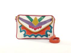 Crossbody Bag Native American Psychedelic Patchwork Purse 80s 90s Geometric Colorful Flap Purse 1980s 1990s Grunge Hipster Messenger NAS Bag