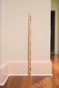"""Wide baseboards. These are 9"""". Make the room more feel more grand. // bowerpowerblog"""