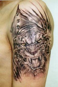 r cken tiger drachen tattoo von mumia tattoo t a t t o o. Black Bedroom Furniture Sets. Home Design Ideas