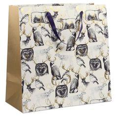 Antler woodland extra large gift bag