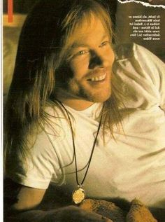 W.Axl Rose of Guns N' Roses in Since I don't have you