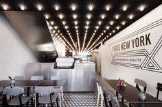 Paris New York hamburger restaurant. Restaurant interior design by Cut Architectures.