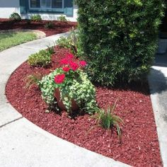 Create A Gorgeous Landscape For Your Home With This Rubber Mulch In Cedar Red