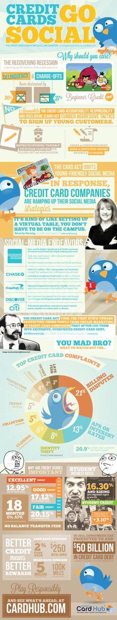 Credit Cards go social - #credit #card #landscape 2012
