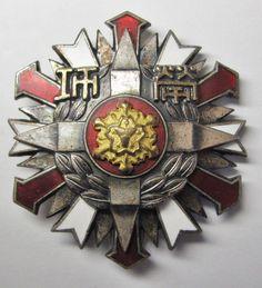 JAPANESE FIRE FIGHTER FIREMAN MERIT MEDAL JAPAN ENAMEL BADGE