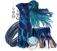 """""""Shades of Blue"""" by aannggiiee ❤ liked on Polyvore"""