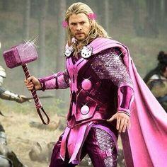 Thor, Hello Kitty, Pink