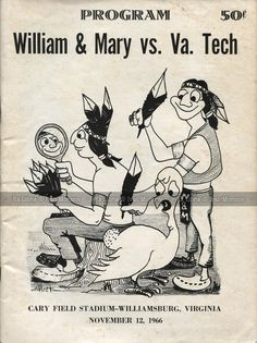 Uk Football, Football Program, Vintage Football, College Football, Wake Forest Football, Virginia Tech Hokies, William And Mary, Sports Art, Old School