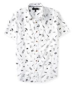 Sketch Print Woven Shirt -