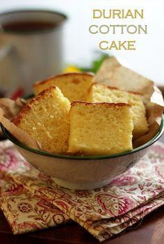 Fruit Recipes, Baking Recipes, Dessert Recipes, Durian Recipe, Durian Cake, Malaysian Dessert, Cotton Cake, Sponge Cake Recipes, Classic Cake