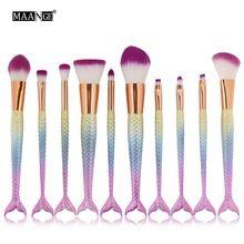 6/10 PCS Pro Pincéis de Maquiagem Conjunto Fundação Blending Sombra Em Pó Contour Concealer Blush Comestic Beleza Compõem Kits Hot New(China (Mainland))