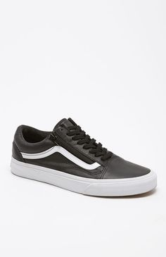 Premium Leather Old Skool Zip Shoes