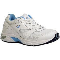 628891381c4 InStride Womens CFS White Light Blue Athletic Running Comfort Diabetic  Sneakers Shoes 7 M WhiteLight Blue
