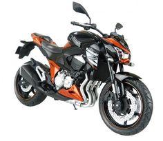 Skynet Aoshima Kawasaki Z800 Orange 1/12 Scale Motorcycle Diecast from Japan #Skynet #KAWASAKI
