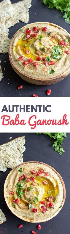 Baba Ganoush - The Father of all Eggplant Dips | hurrythefoodup.com