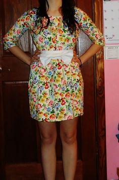 1950's Inspired Long Sleeve Dress