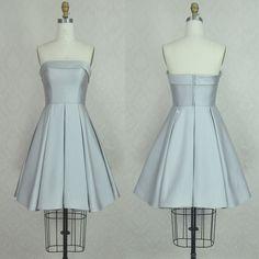 Hd10299 Noble Homecoming Dress,Satin Homecoming Dress,A-Line Homecoming Dress,Strapless Homecoming Dress