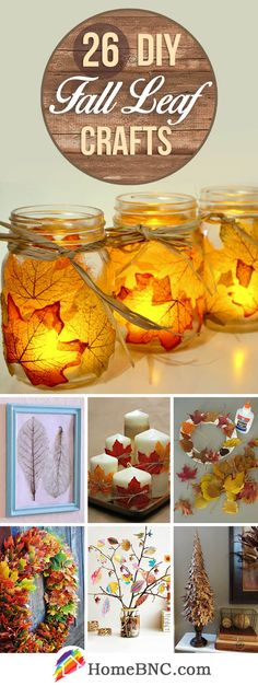 26 Colorful DIY Fall Leaf Crafts that you will find in this .- 26 Colorful DIY Autumn Leaf Crafts That You Must Try This Season # Trying - Autumn Leaves Craft, Autumn Crafts, Holiday Crafts, Diy And Crafts Sewing, Crafts For Kids, Diy Crafts, Thanksgiving Diy, Thanksgiving Decorations, Ideas Prácticas