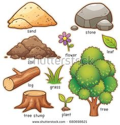 Find Vector illustration of Cartoon nature element vocabulary Stock Vectors and millions of other royalty-free stock photos, illustrations, and vectors in the Shutterstock collection. Thousands of new, high-quality images added every day. Learning English For Kids, English Lessons For Kids, English Tips, English Language Learning, Teaching English, English Writing, English Study, English Grammar, English Book