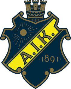 Allmänna Idrottsklubben (AIK Fotboll, AIK Solna) | Country: Sverige / Sweden. País: Suecia | Founded/Fundado: 1891/02/15 | Badge/Crest/Logo/Escudo. Sweden Football, Fifa, Fantasy Logo, Hockey Logos, Soccer Logo, Football Mexicano, Badges, Logos, Stockholm
