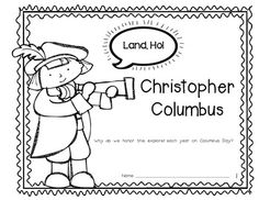 Columbus Day Reader {Rebus Story} for Kindergarten and First Grade. Blackline and color included. Students cut and paste pictures into this booklet to tell about this explorer! $
