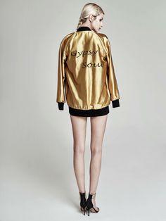 "Oana Pop embroidered, metallic bomber jacket - ""Gypsy Soul"" #fashion #fashionphotography #fashionstyle #fahionmagazine #fashionforwomen #details #oanapopbomberjacket #silkbomberjacket #embroidery"