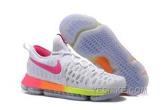 c6b66fdde1647 Shop Top Brands and the latest styles Nike KD 9 White Pink Volt Yellow Top  Deals of at Pumarihanna.