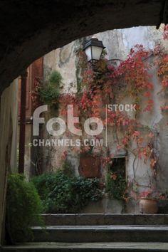 Village, Roquebrune, Roquebrune Cap Martin, Alpes Maritimes, Cte d'Azur, Provence-Alpes-Cte d'Azur, Southern France, Mediterranean Sea, France, Europe, Numer utworu: IBR0157185, Fotochannels