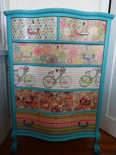 SHABBY CHIC BOHEMIAN ~ GYPSY~ HIPPIE DRESSER VINTAGE 1940S MULTI COLOR HAND…