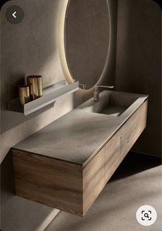 Washroom Design, Bathroom Design Luxury, Modern Bathroom Design, Home Interior Design, Toilet Vanity, Bathroom Vanity Units, Bathroom Cabinets, Oak Vanity Unit, Small Vanity Unit