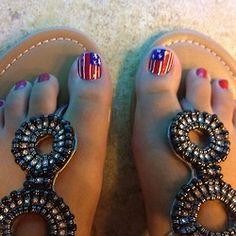 Patriotic Pedi. #nails #summer #july4th