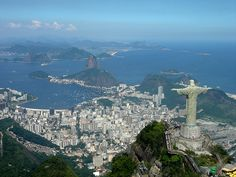 "Rio de Janeiro...""Christ the Redeemer"" is the largest art deco statue in the world and one of the new Seven Wonders of the World...to me this panoramic view with the statue above the city is the coolest in the world"