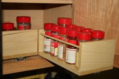 Wooden PullOut Spice Racks by McClaryWoodWorking on Etsy, $17.99