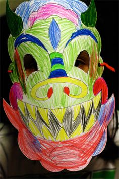 Chinese New Year Craft: Dragon Mask - Re-pinned by @PediaStaff – Please Visit http://ht.ly/63sNt for all our pediatric therapy pins