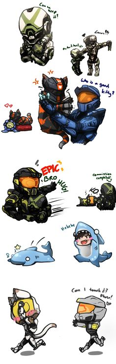 Can We Keep It? Rvb Doodles 2 by No-pe on DeviantArt...literally only pinning this for kitteh Felix and Wash XD