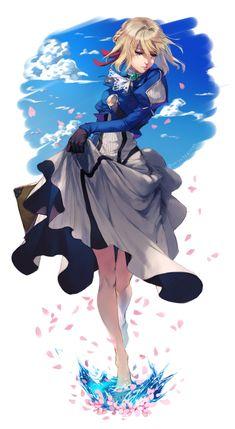 Anime Art Girl, Manga Girl, Manga Anime, Violet Evergarden Wallpaper, Violet Evergreen, Violet Garden, Character Art, Character Design, Violet Evergarden Anime