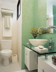 Bricolage e Decoração: Ideias para Decoração de uma Casa de Banho (WC) Pequena